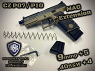 CZ P07 / P10C Mag Extensions (9mmP + 5 / .40S&W + 4)