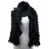 Black scarf.