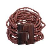Rust Bali beaded bracelet.