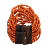 Orange Bali beaded bracelet.