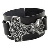 Alchemy Gothic Thunder Hammer Leather Bracelet Cuff A98