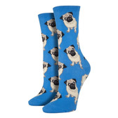 Women's Crew Socks - Pugs