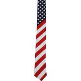 American flag men's neck tie.