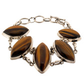 Tigers Eye sterling silver bracelet.