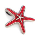 BICO Pacific Jewelry Pewter Pendant Starfish OCEAN CELESTE Tribal Surf Wear PV8 Red