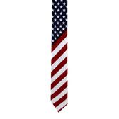 Wider USA flag novelty men's tie.