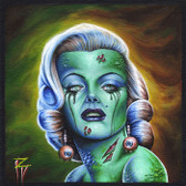 Marilyn of the Dead by Randy Drako Canvas Giclee