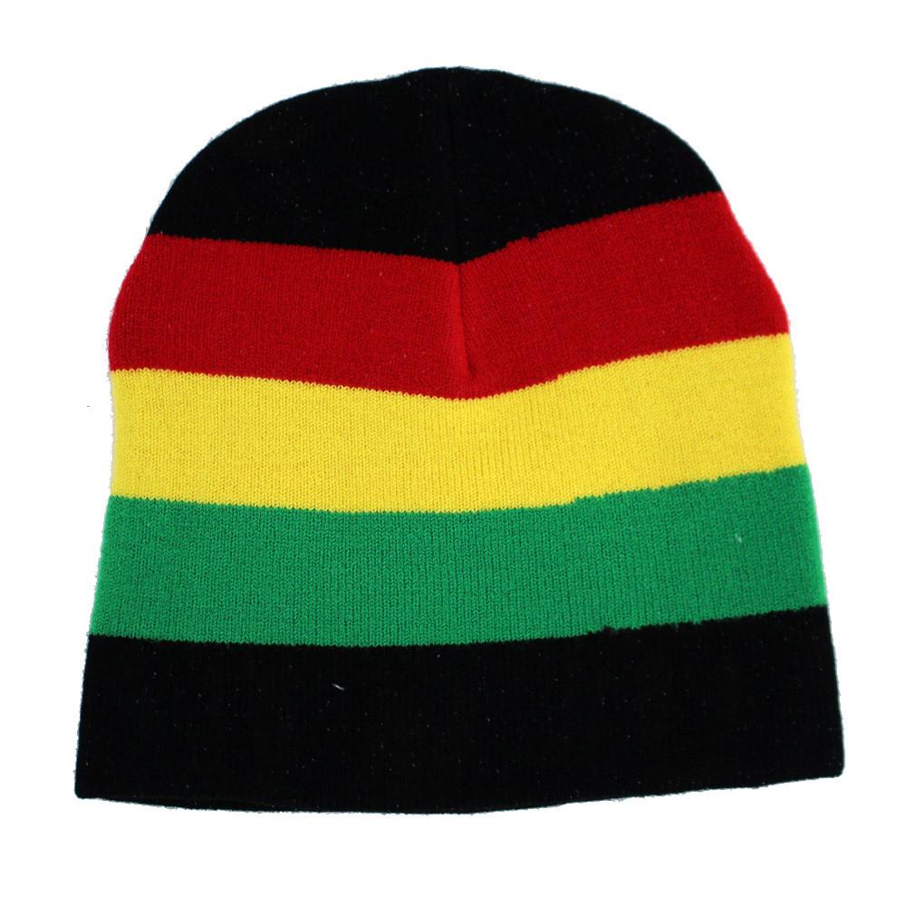 Rasta reggae black knit beanie. 1f9eea3ac6d