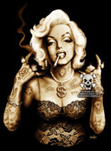 Gangsta Marilyn by Marcus Jones Screaming Demons Canvas Giclee Art Print