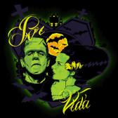 Por Vida Monsters Frankenstein by Charlie Medina Canvas Giclee Art Print