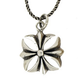 Iron cross pendant with chain.