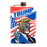 Drink Up America Zombie Donald Trump Political Stainless Steel Flask