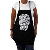 Day of the Dead black apron.