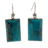 Turquoise sterling silver earrings.