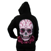 Day of the Dead skull hoodie.