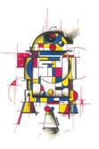 Droid by HEK Star Wars Movie R2-D2 R2D2 Character Robot Fine Art Print