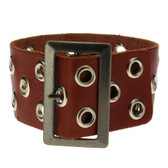 Brown leather bracelet.