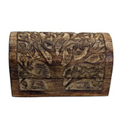 Blooming tree hand carved trinket box.