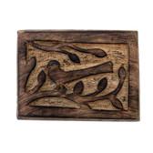 Hand carved trinket box.