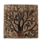 Blooming tree hand carved box.