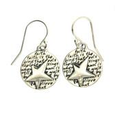 Star dangle earrings.