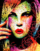 Carissa Rose Hypnotized Girl Canvas Giclee