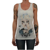 Miss Cherry Martini Women's Frozen Racer Back Tank White