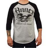 Annex Art and Apparel Gents American Pride Baseball Shirt