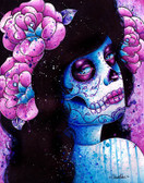 Carissa Rose Could It Really Be Sugar Skull Canvas Giclee