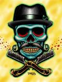 Tyler Bredeweg - Barber Skull - Canvas Giclee