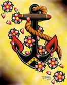 Tyler Bredeweg - Anchor & Flowers - Canvas Giclee