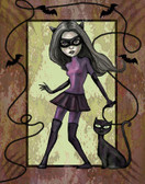 Diana Levin - Levin's Cat Woman - Canvas Giclee