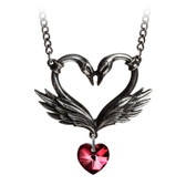 Alchemy Gothic - P773 - The Black Swan Romance Necklace