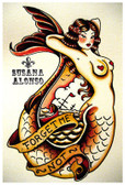 Forget Me Not by Susana Alonso Fine Art Print Nautical Mermaid