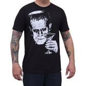 Monster Martini by Mike Bell Men's Black Tee Shirt Frankenstein