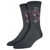 Men's Crew Socks Bicycle Charcoal Gray