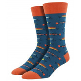 Men's Crew Socks Just Fishing Lures Steel Blue