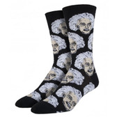 Men's Crew Socks Albert Einstein Black