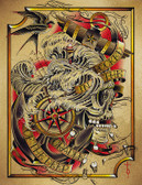 Deep by Tyler Bredeweg Canvas Giclee Nautical Skull