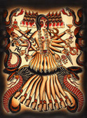 Kali by Brother Greg Canvas Giclee Art Print American Traditional Hindu Goddess