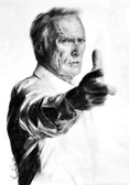 Clint Eastwood by Manuela Lai Canvas Giclee Art Print Dirty Harry Hollywood Movie Star