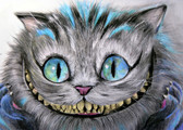 Cheshire Cat by Manuela Lai Canvas Giclee Art Print Alice In Wonderland