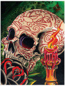 Skull and Candle by 2 Cents Fine Art Print Day of the Dead