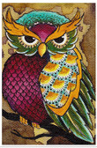 Owl by Brittany Morgan Fine Tattoo Art Print Colorful Bird