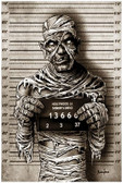 Halloween Monster Mummy Mugshot by Marcus Jones Screaming Demons Fine Tattoo Art Print