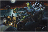 Fully Charged Hot Rod Frankenstein by Damian Fulton Fine Tattoo Art Print