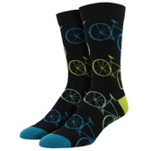 Men's Bamboo Crew Socks Fixie Bicycle Road Bikes Black