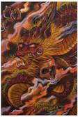 Dragons Descent and Skull by Manuel Valenzuela Tattoo Fine Art Print