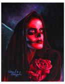 Red Mary Sugar Skull by Manuel Valenzuela Tattoo Fine Art Print