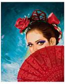 Senorita Spanish Dancer by Manuel Valenzuela Tattoo Fine Art Print